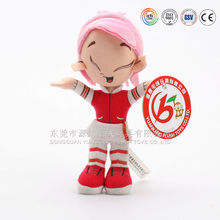 China ICTI audit factory wholesale plush christmas gift doll with bows