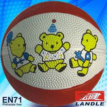 good new official size new style rubber made kids natural rubber basketball