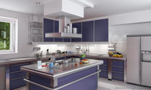 export standard free standing durable 201/304 stainless steel kitchen cabinet with free 3D designs & CAD pictures