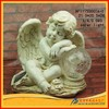 2015 Resin cupid angel statue with garden decorative light