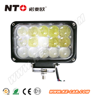 Super power Auto 12V 4X6 inch 45W LED Driving Light High Low Beam Driving Lamp for Jeep 4X4 Offroad UTV