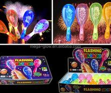 Most popular multicolor flashing led maracas, LED clapper for wedding decoration