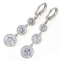 Top quality useful geometric glaze dangle earring