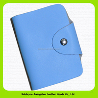 Plastic folding business pvc leather business name card holder 15269