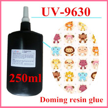 UV-9630 250ml one component uv glue curing resin doming acrylic transparent crystal doming resin