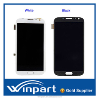 Touch screen digitizer lcd full assembly frame for Samsung Galaxy note 2 N7100 , for galaxy note2 lcd screen