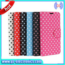 Polka Dot Case For Samsung Galaxy Note 2/3 S3/S4 PU Flip Leather Wallet Case