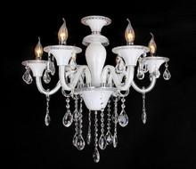 Chandelier crystal lighting white modern crystal chandelier