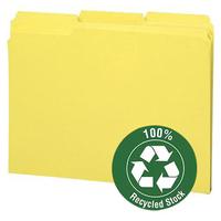 Manila File Folders, 3Tabs, Environment-friendly