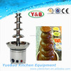 2015Hot sale CE proved 5 tiers single tower large commercial chocolate fountain