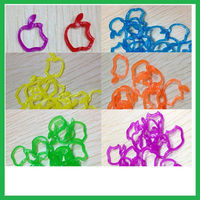 Colorful bands loom kit for kids diy,new designs diy silicone loom bands