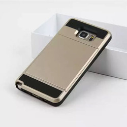 Hybrid Armor Phone Case With Card Slot For Samsung Galaxy Note 5