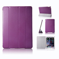 In Stock! Deluxe Smart PU Leather Case For Apple iPad Air 2 Magnetic Stand Case For iPad Air 2 Cover Tablet Factory Direct Sale