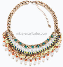 2015 spring summer designer top brand necklace rope chain necklace N2728