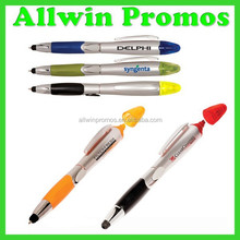 Logo Printed Stylus Ball Pen With Highlighter