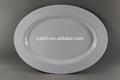 39.5x29cm louça branca oval melamina placas para hotel