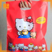 white soft loop recycled plastic shopping bags for promotion