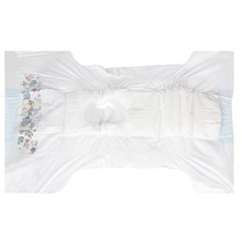 Pet grooming product disposable pet diaper with white PE backsheet