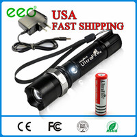 Wholesale 500 lumen t6 best led tactical security zoom aluminum police army night hunting high power rechargable garden torch