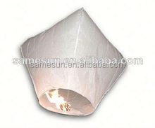 2014 hot sale 100% Biodegradable luminary sky lantern for wedding