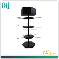rotating metal display stand/handbag display stand/candy display racks with peg