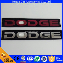 Car ABS Chrome Red Dodge Letter Sticker Badge Emblem