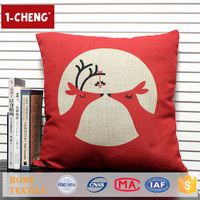 Hot Sale Creative Christmas Deer Pattern Printing Design Cushion,Home Decor Pillow Case,Sofa Beds Lumbar Support