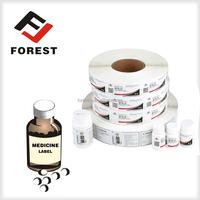 High quality stardard adhesive medicine bottle label sticker