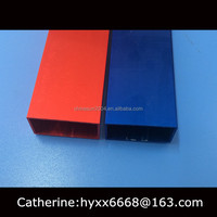 Different colors red and blue anodizing of aluminium tube