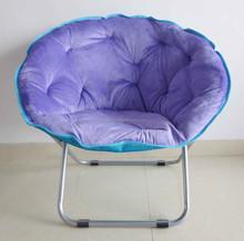 Printed half moon chair outdoor furniture cheap folding moon chair