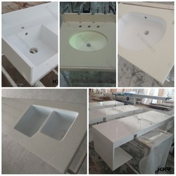 Acrylic resin solid surface countertop with sinks , intergrated countertop with sinks