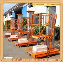 Single person manual push vertical platform lift