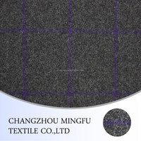wool/polyester fabric, grey plaid tartan wool fabric, check fabric for women suit