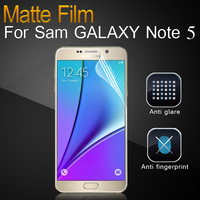 Best Price Anti-Fingerprint Matte cell phone screen protector for mobile phone for Samsung Galaxy Note5