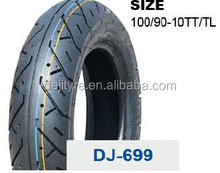 wholesale high quality tubeless motorcycle tires 100/90-10