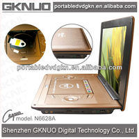 17 inch dvd with folding tv screen portable dvd