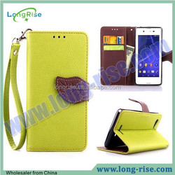 Wallet Case for Sony E3, Flip Cover Mobile Phone Case for Sony Xperia E3 D2203 D2206