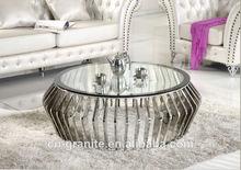ronda de café de mesa de acero inoxidable tapa de la mesa