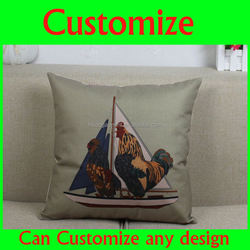 Customized printed cute cotton baby sleeping pillow cover