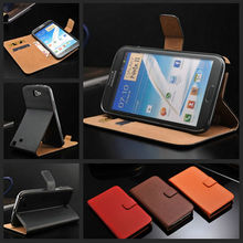 High end unbreakable genuine leather mobile phone case for Samsung galaxy Note 2