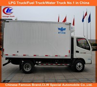 Foton Mini Refrigerated van Foton 4*2 food Transport Truck Foton 3-5ton Refrigerated van for sale