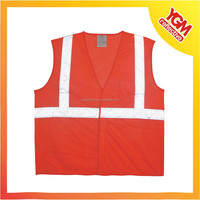 red mesh high visibility bicycle safety vest