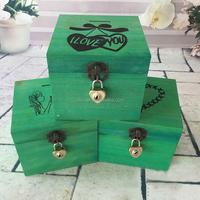 Wholesale fine lockable wooden jewelry box storage box