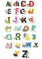 Kids Alphabet wall decal stickers for learning and room decoration