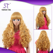 100% Fashinable Fiber boy red doll wig