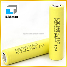 original 100% Authentic LG HE4 2500mAh battery new yellow battery same quality as LG HE2 akku/charging lg he4 18650 battery