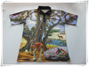 NEW 100% polyester sublimated polo shirt, color combination polo shirt