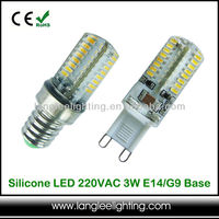 Clear Silicone Capsule LED Light Bulb E14 G9 G4 230V
