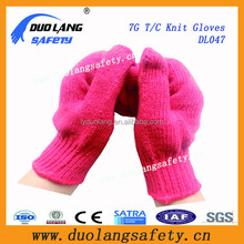 Skin Color 100% Acrylic Knitted Gloves withCotton Knitted Gloves
