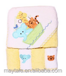 high quality bamboo cotton baby hooded towel